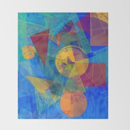 Modern Abstract Throw Blanket