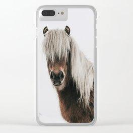 Icelandic Horse - Pony Photo Clear iPhone Case
