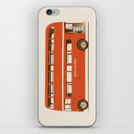 Red London Bus iPhone Skin
