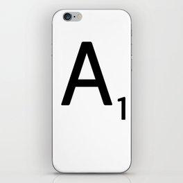 Letter A - Custom Scrabble Letter Wall Art - Scrabble A iPhone Skin