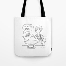 all muscle baby... Tote Bag
