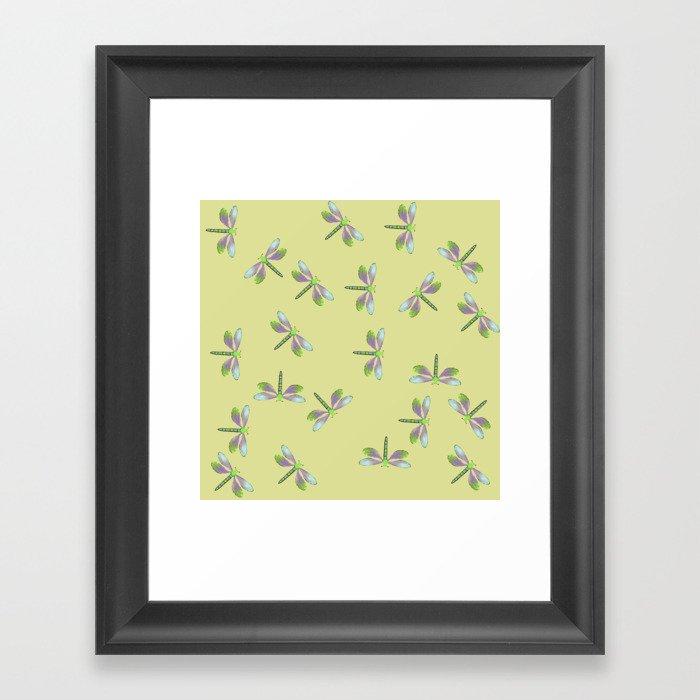 Dragonfly Frenzy Framed Art Print