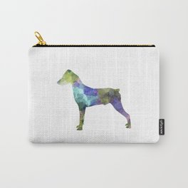 German Pinscher 01 in watercolor Carry-All Pouch