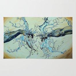 God And Adams Hands In Water (Brown) Rug