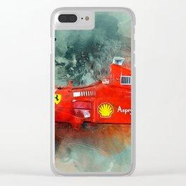 F1 Sports Car Clear iPhone Case