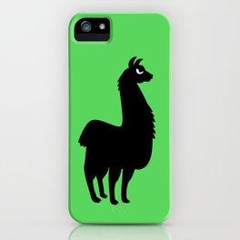 Angry Animals: llama iPhone Case