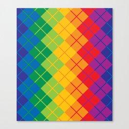Rainbow Argyle Canvas Print