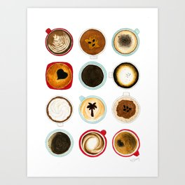 Diffent Sides of Coffee Art Print