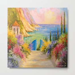 Road to the sea Metal Print