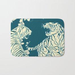 floral tigers Bath Mat