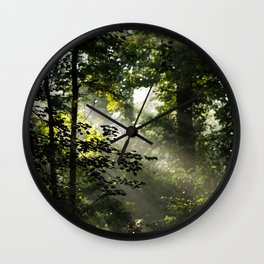 Forest Morning Wall Clock