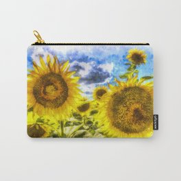 Summers Day Sunflowers Art Carry-All Pouch