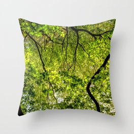 Tree Leafs. Throw Pillow