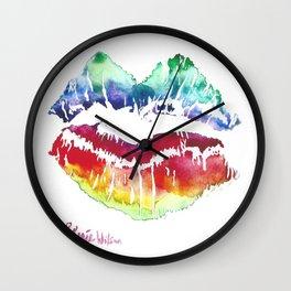Kiss Of Color Wall Clock