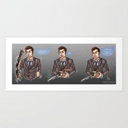 DING! - Tenth Doctor Art Print