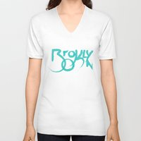 brooklyn V-neck T-shirts featuring Brooklyn by Pamalope
