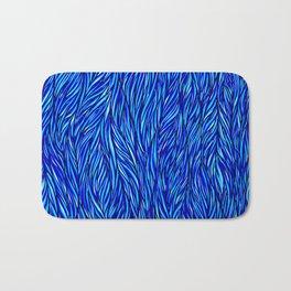 Blue Fur Bath Mat