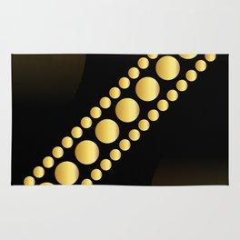 Golden dotes on black background #society6 #decor #buyart #artprint Rug