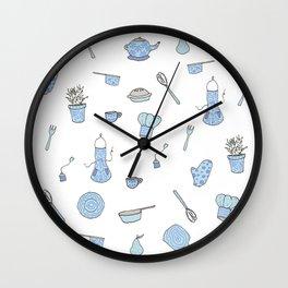 Kitchen Pattern Print! Wall Clock