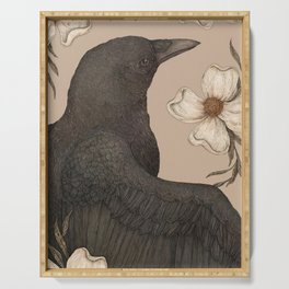 The Crow and Dogwoods Serving Tray