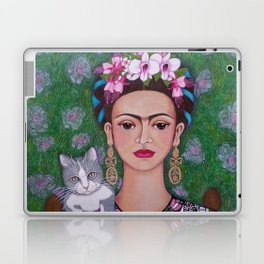 Frida cat lover closer Laptop & iPad Skin