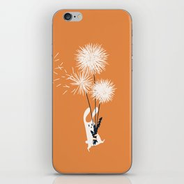 Bunny and Dandelion Bouquet iPhone Skin