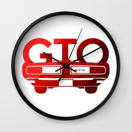 Pontiac GTO - classic red - Wall Clock