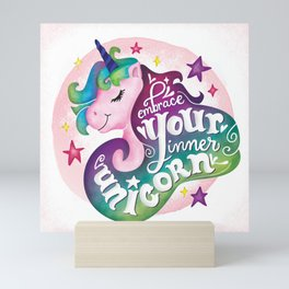 Embrace Your Inner Unicorn Mini Art Print