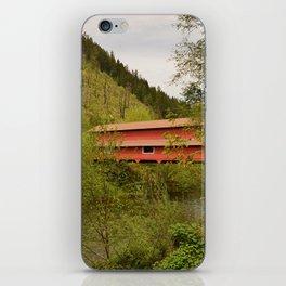 Office Covered Bridge - Westfir, Oregon iPhone Skin