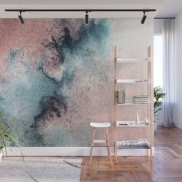 Pink and Blue Oasis Wall Mural