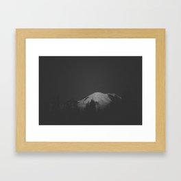 Mount Rainier Shimmer  Framed Art Print