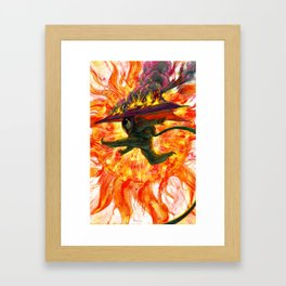 Astro Jump Framed Art Print