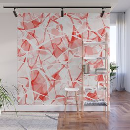 White red abstract Wall Mural
