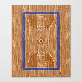 Wooden Basketball Court Canvas Print