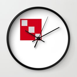 red squares Wall Clock