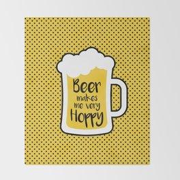 Beer Makes Me Hoppy Throw Blanket