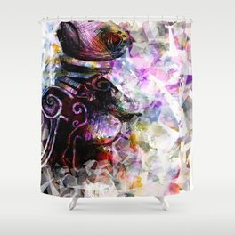 Metal Turtle Shower Curtain