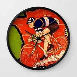 Tour De France Vintage Wall Clock