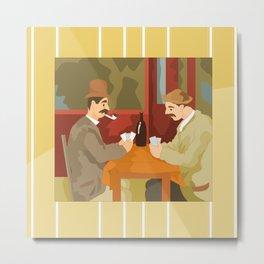 Card players by Cezanne Metal Print