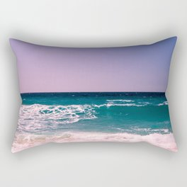Azure Waves Rectangular Pillow