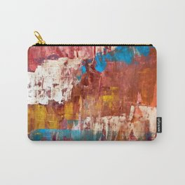 Desert Sun [5]: A bright, bold, colorful abstract piece in warm gold, red, yellow, purple and blue Carry-All Pouch