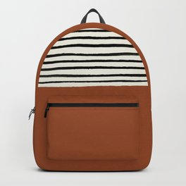 Burnt Orange x Stripes Backpack