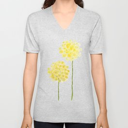 two abstract dandelions watercolor Unisex V-Neck