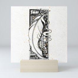 Wing Feather Inktober :: Bronzed Angels Barefoot Mini Art Print