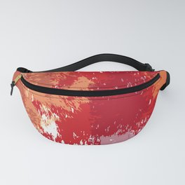 Red Orange Watercolor Fanny Pack
