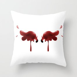 Bloody Wings Throw Pillow