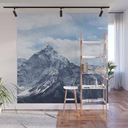 Snowy Mountain Peaks Wall Mural