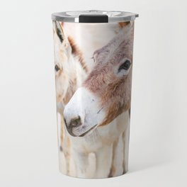 Three Donkeys in Baja, Mexico Travel Mug
