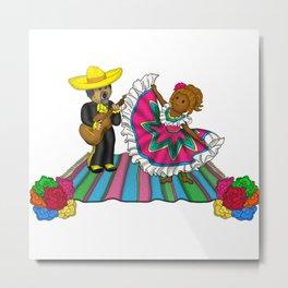 A La Fiesta Metal Print