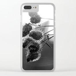 Dried burdock Clear iPhone Case